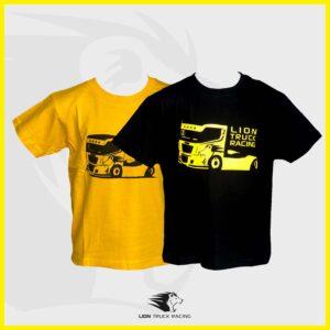 LION TRUCK RACING t-shirts enfants jaune et noir
