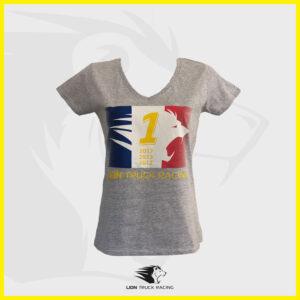 LION TRUCK RACING T-shirt Femme Gris