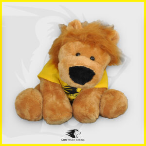 LION TRUCK RACING grande peluche lion jaune