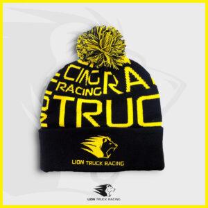 LION TRUCK RACING bonnet pompon noir jaune